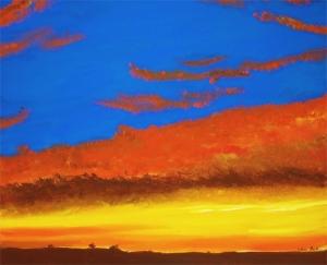 """Moreno Valley Morning""  20x24"" acrylic on wraparound canvas. $400"