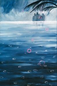 """""""Love Rain"""" acrylic on canvas. 36x24"""""""