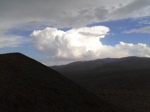 Thunderheads from Yaqui Pass
