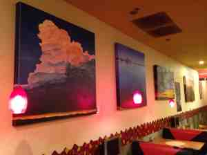 Skyscapes at Red Brick Pizza.