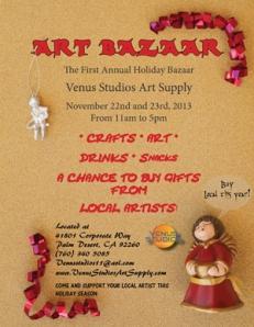 Venus Studios Art Bazaar Flyer