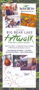 Big Bear Lake Art Walk flyer