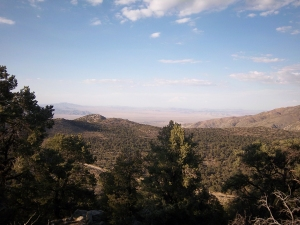 View of Mojave Desert from route 18 in Big Biear