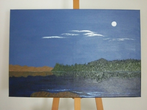 On the easel - Cabin