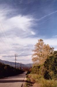 A road in Fillmore, CA