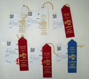 2015 Imperial countyfair ribbons
