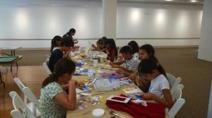 Twelve students engrossed in fun