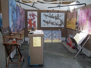 Booth with art