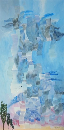 Approaching Storm, Mixed Media Painting