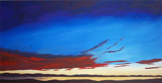 Morning Star oil skyscape painting
