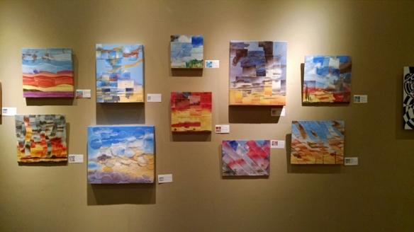 Jeni Bate's Refractured watercolors at Incredible Art Center