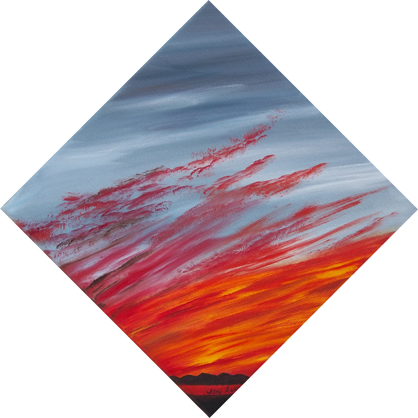 Red dawn painting