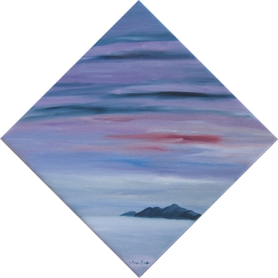 Mauve sky painting