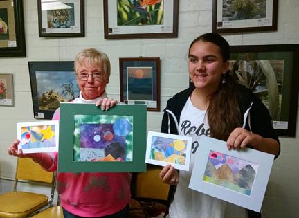 Watercolor collage workshop