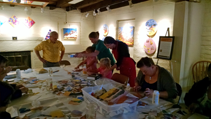 Watercolor collage workshop