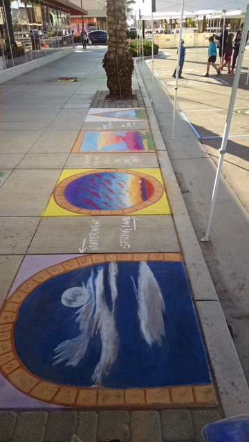 Indio Chalk Festival painting