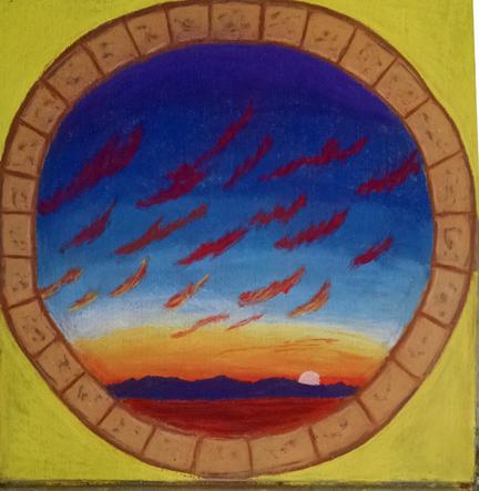 Indio Chalk Festival painting