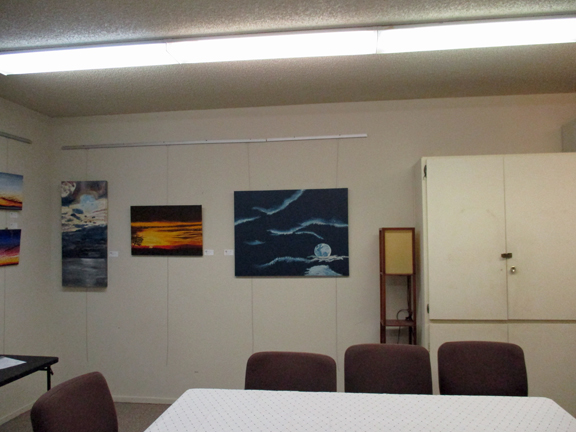 Paintings in office meeting room, Yucca Valley Presbyterian Church.