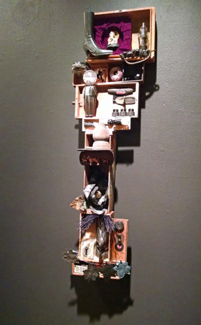 mixed media wall sculpture