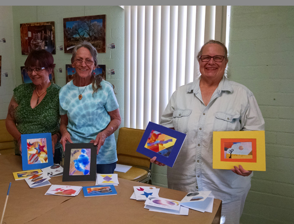 Graduates of watercolor collage workshop
