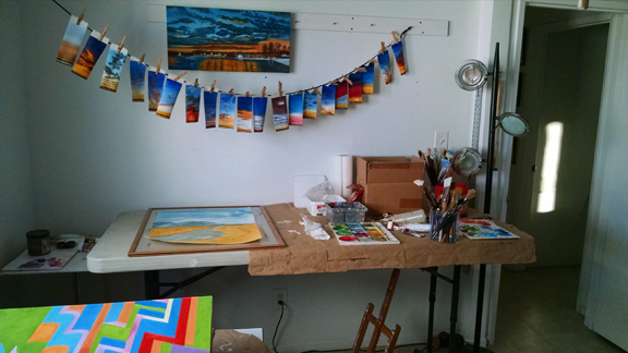 Art Studio in a mess