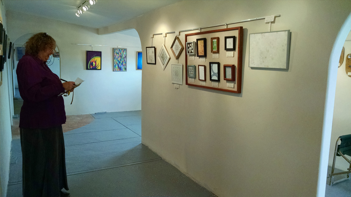 Christine Lamb at the Glass Outhouse Gallery