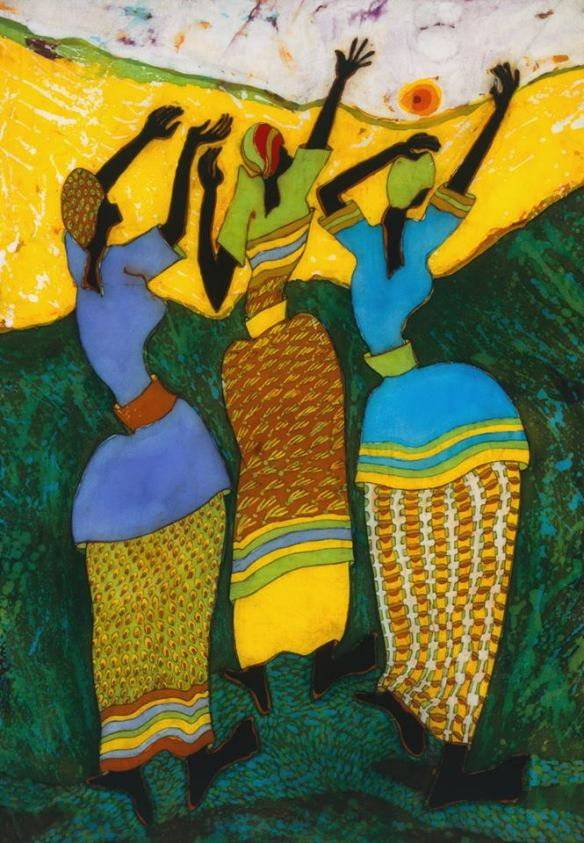Painting of women in Uganda