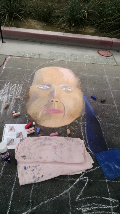Chalk festival entry progress
