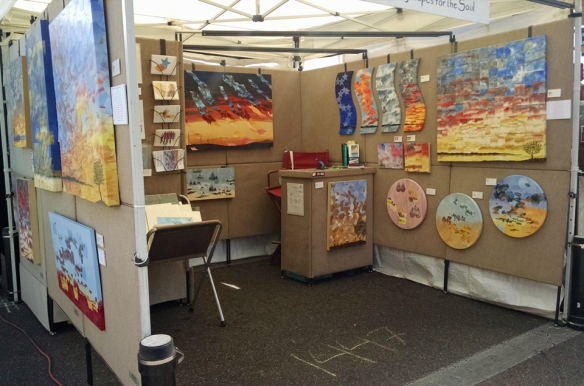Skyscapes for the Soul Booth at Tempe Art festival