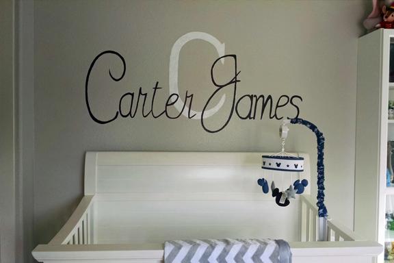 nursery name mural
