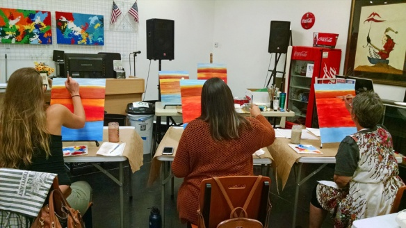 Students in painting class