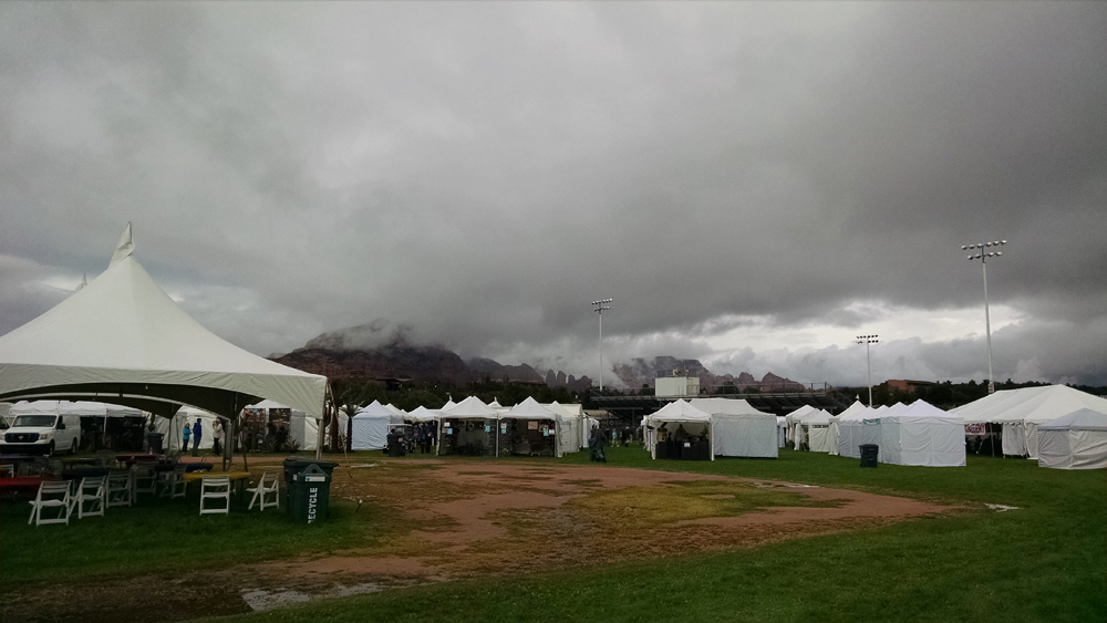 Rainy weather over Sedona