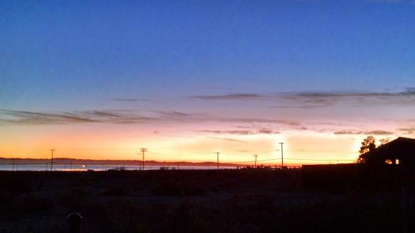 Sunrise across the Salton Sea