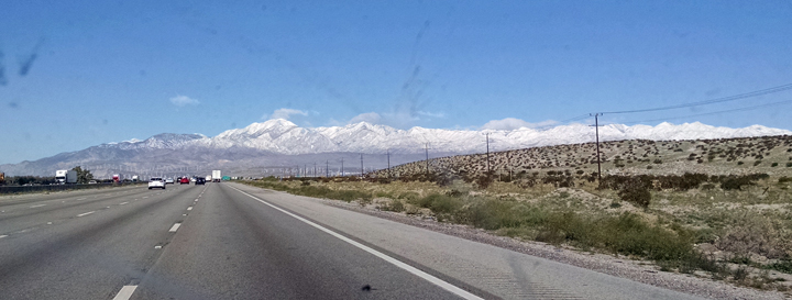 Snow on San Gorgonios