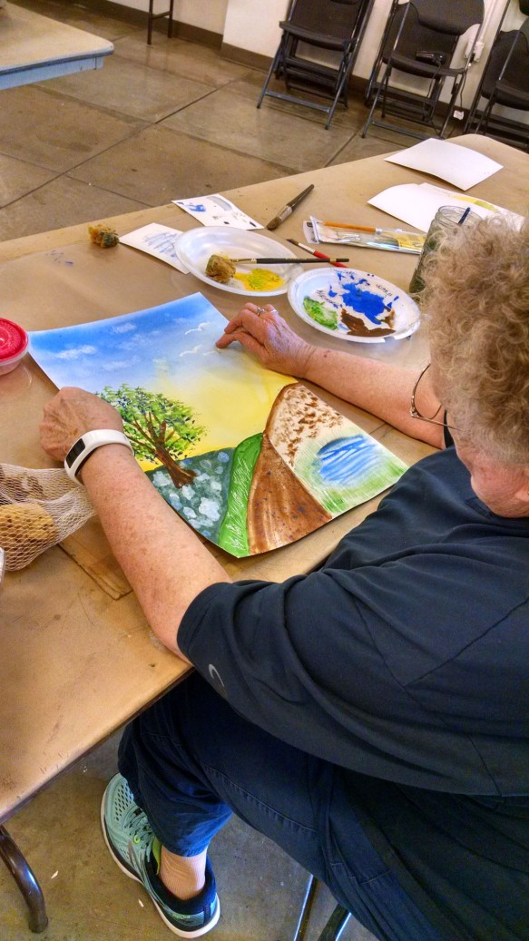 painting for absolute beginners student