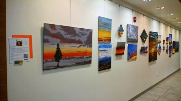 Indio Senior Center Art Wall with oils and acrylics
