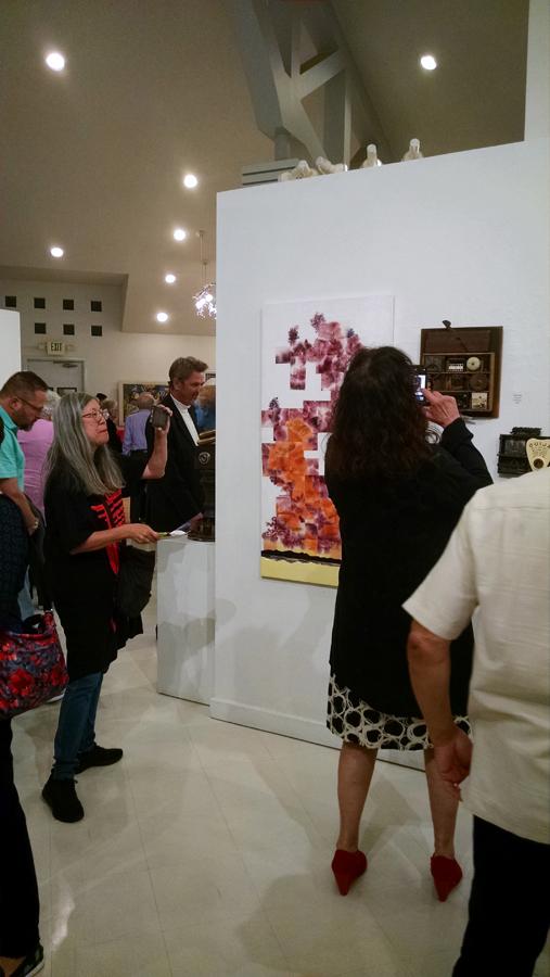 Crowd at Art Reception