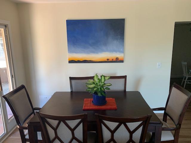 Oil painting of Salton Sea