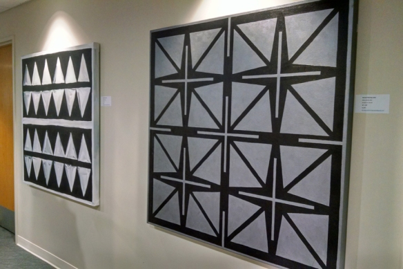 Artwork at the Geometry 101 show
